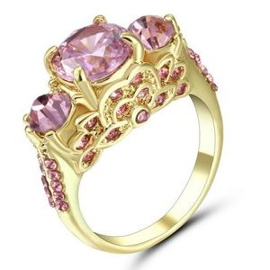 🌸 Pink Topaz in 10 Kt Gold Filled setting
